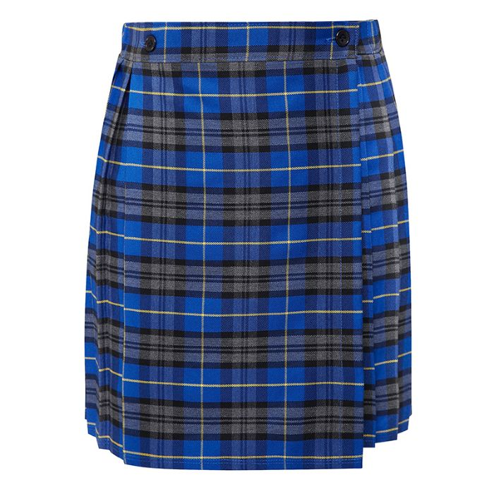 4a8bdd9069 Longmoor Lane Tartan Blue/Yellow Kilt skirt - Peggy Clives Printing ...