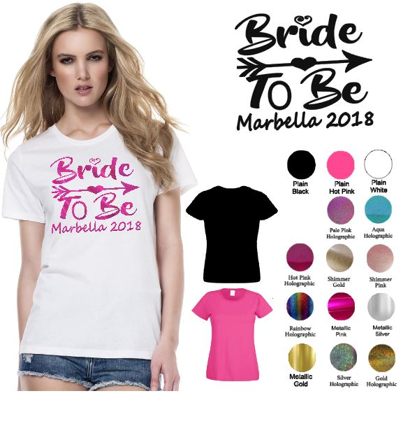 bd8e92e3 The Bride Personalised hen Party tshirt - Peggy Clives Printing and ...